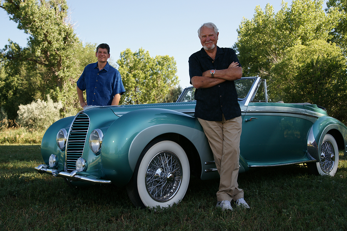 Clive and Dirk with the 1948 Delahaye